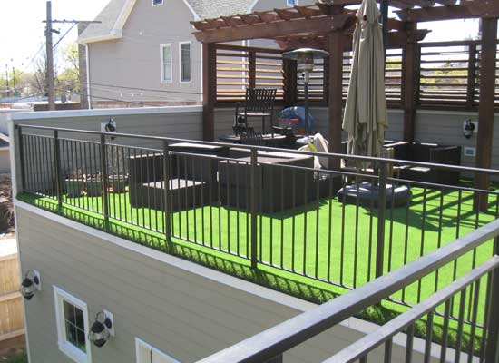 Artificial Grass For Roofs Amp Decks In Chicago Chicago